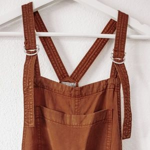 NEW Aerie Rust Colored Overalls